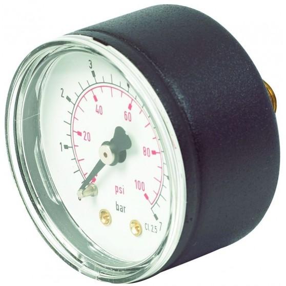 Pressure Gauge 50mm Centre Back Connection
