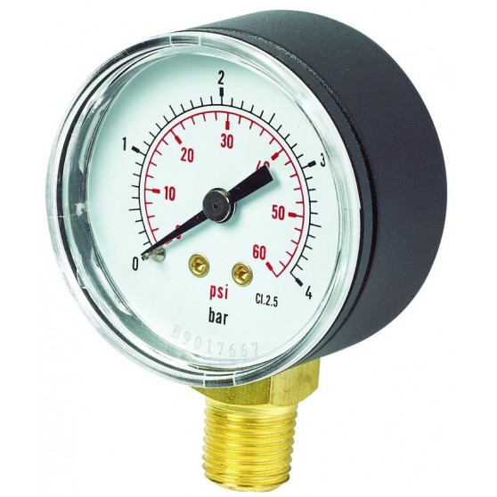 Pressure Gauge 50mm Bottom Connection
