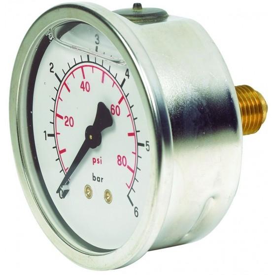 Pressure Gauge 63mm Centre Back Connection